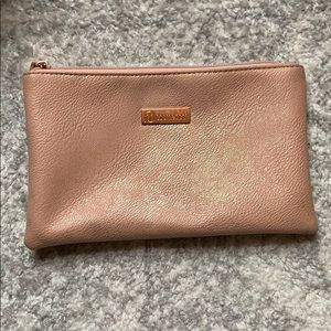 Rose gold BH Cosmetics makeup bag
